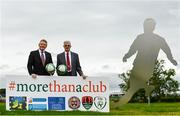 20 September 2017; In attendance during the FAI More Than A Club Launch are, from left, Brian Rohan, Cork City, Derek O'Neill, Project Manager, Football Association of Ireland,  Fran Gavin, Competition Director, Football Association of Ireland and Chris Brien, Bohemians. The launch took place at FAI HQ, Abbotstown, Dublin 15. Photo by Sam Barnes/Sportsfile