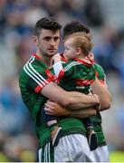 17 September 2017; Brendan Harrison of Mayo with his son Fionn after the GAA Football All-Ireland Senior Championship Final match between Dublin and Mayo at Croke Park in Dublin. Photo by Piaras Ó Mídheach/Sportsfile