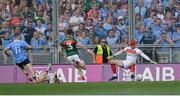 17 September 2017; Con O'Callaghan of Dublin scores his side's first goal past Mayo goalkeeper David Clarke during the GAA Football All-Ireland Senior Championship Final match between Dublin and Mayo at Croke Park in Dublin. Photo by Piaras Ó Mídheach/Sportsfile
