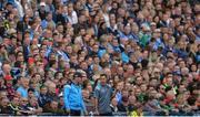 17 September 2017; Dublin manager Jim Gavin, left, and selector Jason Sherlock during the GAA Football All-Ireland Senior Championship Final match between Dublin and Mayo at Croke Park in Dublin. Photo by Piaras Ó Mídheach/Sportsfile