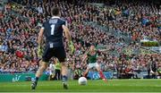 17 September 2017; Andy Moran of Mayo looks on as Stephen Cluxton of Dublin prepares to take a kick-out during the GAA Football All-Ireland Senior Championship Final match between Dublin and Mayo at Croke Park in Dublin. Photo by Piaras Ó Mídheach/Sportsfile