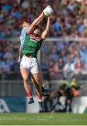 17 September 2017; Aidan O'Shea of Mayo in action against Paul Flynn of Dublin during the GAA Football All-Ireland Senior Championship Final match between Dublin and Mayo at Croke Park in Dublin. Photo by Piaras Ó Mídheach/Sportsfile