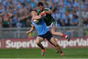 17 September 2017; Con O'Callaghan of Dublin in action against Séamus O'Shea of Mayo during the GAA Football All-Ireland Senior Championship Final match between Dublin and Mayo at Croke Park in Dublin. Photo by Piaras Ó Mídheach/Sportsfile