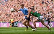 17 September 2017; Paul Mannion of Dublin in action against Brendan Harrison of Mayo during the GAA Football All-Ireland Senior Championship Final match between Dublin and Mayo at Croke Park in Dublin. Photo by Piaras Ó Mídheach/Sportsfile