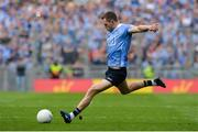 17 September 2017; Dean Rock of Dublin scores the winning point from a free late in injury time during the GAA Football All-Ireland Senior Championship Final match between Dublin and Mayo at Croke Park in Dublin. Photo by Piaras Ó Mídheach/Sportsfile