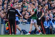 17 September 2017; Donal Vaughan of Mayo leaves the field after being sent off during the GAA Football All-Ireland Senior Championship Final match between Dublin and Mayo at Croke Park in Dublin. Photo by Piaras Ó Mídheach/Sportsfile