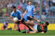 17 September 2017; James McCarthy of Dublin in action against Aidan O'Shea of Mayo during the GAA Football All-Ireland Senior Championship Final match between Dublin and Mayo at Croke Park in Dublin. Photo by Piaras Ó Mídheach/Sportsfile