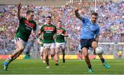 17 September 2017; Kevin McManamon of Dublin in action against Paddy Durcan of Mayo during the GAA Football All-Ireland Senior Championship Final match between Dublin and Mayo at Croke Park in Dublin. Photo by Piaras Ó Mídheach/Sportsfile