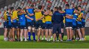 21 September 2017; Leinster players huddle during the Leinster captain's run at Toyota Stadium in Bloemfontein, South Africa. Photo by Frikkie Kapp/Sportsfile