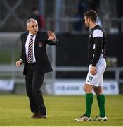 22 September 2017; Cork City manager John Caulfield with Gearóid Morrissey prior to the SSE Airtricity League Premier Division match between Limerick FC and Cork City at Markets Fields in Limerick. Photo by Stephen McCarthy/Sportsfile