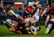 22 September 2017; Tommy Bowe of Ulster is tackled by Pat Howard of Dragons during the Guinness PRO14 Round 4 match between Ulster and Dragons at Kingspan Stadium in Belfast. Photo by Oliver McVeigh/Sportsfile
