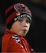 22 September 2017; A young Bohemians supporter during the SSE Airtricity League Premier Division match between Bohemians and St Patrick's Athletic at Dalymount Park in Dublin. Photo by Eóin Noonan/Sportsfile