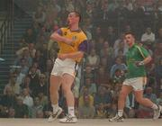 21 September 2002; Colin Keeling, Wexford, in action against Walter O'Connor, Kerry, during the Senior Doubles Final, High Ball All Ireland handball Finals, Croke Park, Dublin. Picture credit; Damien Eagers / SPORTSFILE *EDI*