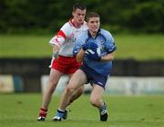 7 September 2002; Conal Keaney, Dublin in action against Fergal Donnelly, Tyrone, Tyrone v Dublin, All Ireland Football Semi Final, Breffni Park, Co. Cavan, Football. Picture credit; Damien Eagers / SPORTSFILE *EDI*