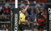 22 September 2017; Referee Dan Jones awards a penalty try to Ulster during the Guinness PRO14 Round 4 match between Ulster and Dragons at Kingspan Stadium in Belfast. Photo by John Dickson/Sportsfile