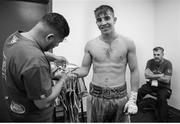 22 September 2017; Michael Conlan prepares for his featherweight bout against Kenny Guzman at the Convention Center in Tucson, Arizona. Photo by Mikey Williams/Top Rank/Sportsfile