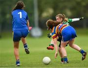 23 September 2017; Players in action during the game between Douglas, Cork and Scoil Uí Chonaill, Dublin during All-Ireland Ladies Football Club 7's where every county was represented by over 1,000 players competing in 3 grades for the honourof being the 2017 Ladies All Ireland Club 7s Champions. Naomh Mearnóg and St. Sylvester's were the host club to the intensely competitive clubs competition at Naomh Mearnóg in Portmarnock, Dublin. Photo by Eóin Noonan/Sportsfile