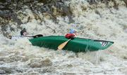 23 September 2017; Peter Faulkner and Colin Davidson, competing in the Open Canoe Doubles class, during the 58th International Liffey Descent on the River Liffey at Straffan Weir, in Straffan, Co Kildare. Photo by Piaras Ó Mídheach/Sportsfile