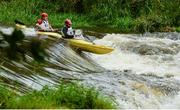 23 September 2017; Alistair Lang and Daniel McCloskey, competing in the Touring T2 class, during the 58th International Liffey Descent on the River Liffey at Straffan Weir, in Straffan, Co Kildare. Photo by Piaras Ó Mídheach/Sportsfile
