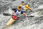 23 September 2017; The team of Kevin Croke and Matthew Burke compete during the 58th International Liffey Descent on the River Liffey at Lucan Weir in Lucan, Co Dublin. Photo by Cody Glenn/Sportsfile