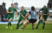 23 September 2017; Andrew Deegan of Connacht, supported by team-mates, Rory Scholes, left, and Ultan Dillane, right, in action against Josh Navadi of Cardiff during the Guinness PRO14 Round 4 match between Connacht and Cardiff Blues at The Sportsground in Galway. Photo by Diarmuid Greene/Sportsfile