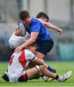 23 September 2017; Conor Duff of Leinster is tackled by Joshua McAuley of Ulster during the under 18 schools interprovincial match between Leinster and Ulster at Donnybrook Stadium Dublin. Photo by Ramsey Cardy/Sportsfile