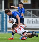 23 September 2017; Sam Dardis of Leinster is tackled by Kevin McNaboe of Ulster during the under 18 schools interprovincial match between Leinster and Ulster at Donnybrook Stadium Dublin. Photo by Ramsey Cardy/Sportsfile