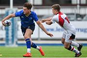 23 September 2017; Sam Dardis of Leinster is tackled by Thomas Armstrong of Ulster during the under 18 schools interprovincial match between Leinster and Ulster at Donnybrook Stadium Dublin. Photo by Ramsey Cardy/Sportsfile