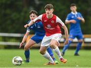 23 September 2017; Luke O'Reilly of Sligo Rovers in action against Jack Larkin of  Waterford FC during the SSE Airtricity National Under 17 League Mark Farren Cup Final match between Waterford FC and Sligo Rovers at RSC in Waterford. Photo by Matt Browne/Sportsfile