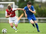 23 September 2017; Lee Costello of Waterford FC in action against Seamus Keogh of Sligo Rovers during the SSE Airtricity National Under 17 League Mark Farren Cup Final match between Waterford FC and Sligo Rovers at RSC in Waterford. Photo by Matt Browne/Sportsfile