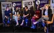 23 September 2017; Attendees, from left, Irish Rugby Legend Lindsay Peat, Champion Jockey Rachael Blackmore, MC Gráinne McElwain, World and Europe Boxing medallist Kellie Harrington, and All-Ireland Ladies Football winner Valerie Mulcahy, during Women in Sport: the Challenges and Opportunities discussion panel. Women in Sport: The Challenges and Opportunities TG4 in partnership with Sport for Business, hosted a panel discussion entitled Women in Sport, the Challenges and Opportunities. The panel discussion took place at the Croke Park Hotel on Saturday September 23rd. The chairperson on the night was Gráinne McElwain and the panellists were: Irish Rugby Legend Lindsay Peat, All-Ireland Ladies Football winner Valerie Mulcahy, World and Europe Boxing medallist Kellie Harrington, and Champion Jockey Rachael Blackmore. The Croke Park Hotel in Dublin. Photo by Piaras Ó Mídheach/Sportsfile