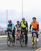 24 September 2017; Cllr. Janice Boylan was on hand in Smithfield, to officially start the biggest cycling event of its kind to take place in Dublin. The Great Dublin Bike Ride is an initiative from Sport Ireland who work in conjunction with Dublin City Council, Healthy Ireland, Fingal County Council and Cycling Ireland.The Great Dublin Bike Ride was a flagship event in Ireland for the European Week of Sport (23 - 30 September) and encourages everyone to #BeActive. The Gardaí, Luas, Dublin Bus and Civil Defence worked hard with the various city and county councils to ensure the safety and enjoyment of participants on the day. Pictured is a general view of riders at The Great Dublin Bike Ride 2017, in Dublin. Photo by Eóin Noonan/Sportsfile