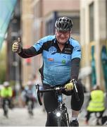 24 September 2017; Cllr. Janice Boylan was on hand in Smithfield, to officially start the biggest cycling event of its kind to take place in Dublin. The Great Dublin Bike Ride is an initiative from Sport Ireland who work in conjunction with Dublin City Council, Healthy Ireland, Fingal County Council and Cycling Ireland.The Great Dublin Bike Ride was a flagship event in Ireland for the European Week of Sport (23 - 30 September) and encourages everyone to #BeActive. The Gardaí, Luas, Dublin Bus and Civil Defence worked hard with the various city and county councils to ensure the safety and enjoyment of participants on the day. Pictured is participant Martin Quaid, at The Great Dublin Bike Ride 2017, Smithfield Square, Dublin. Photo by Seb Daly/Sportsfile