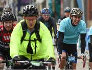 24 September 2017; Cllr. Janice Boylan was on hand in Smithfield, to officially start the biggest cycling event of its kind to take place in Dublin. The Great Dublin Bike Ride is an initiative from Sport Ireland who work in conjunction with Dublin City Council, Healthy Ireland, Fingal County Council and Cycling Ireland.The Great Dublin Bike Ride was a flagship event in Ireland for the European Week of Sport (23 - 30 September) and encourages everyone to #BeActive. The Gardaí, Luas, Dublin Bus and Civil Defence worked hard with the various city and county councils to ensure the safety and enjoyment of participants on the day. Pictured are riders as they finish The Great Dublin Bike Ride 2017, Smithfield Square, Dublin. Photo by Seb Daly/Sportsfile