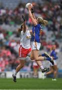 24 September 2017; Jennifer Grant of Tipperary in action against Niamh O'Neill of Tyrone during the TG4 Ladies Football All-Ireland Intermediate Championship Final match between Tipperary and Tyrone at Croke Park in Dublin. Photo by Brendan Moran/Sportsfile