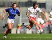 24 September 2017; Niamh Hughes of Tyrone in action against Bríd Condon of Tipperary during the TG4 Ladies Football All-Ireland Intermediate Championship Final match between Tipperary and Tyrone at Croke Park in Dublin. Photo by Cody Glenn/Sportsfile