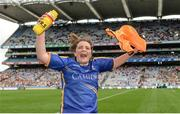 24 September 2017; Róisín Howard of Tipperary celebrates following the TG4 Ladies Football All-Ireland Intermediate Championship Final match between Tipperary and Tyrone at Croke Park in Dublin. Photo by Cody Glenn/Sportsfile