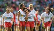 24 September 2017; A dejected Niamh Hughes, left, and Emma Smyth of Tyrone after the TG4 Ladies Football All-Ireland Intermediate Championship Final match between Tipperary and Tyrone at Croke Park in Dublin. Photo by Brendan Moran/Sportsfile