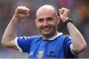 24 September 2017; Tipperary manager Shane Ronayne celebrates after during the TG4 Ladies Football All-Ireland Intermediate Championship Final match between Tipperary and Tyrone at Croke Park in Dublin. Photo by Brendan Moran/Sportsfile