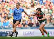 24 September 2017; Nicole Owens of Dublin in action against Rachel Kearns of Mayo during the TG4 Ladies Football All-Ireland Senior Championship Final match between Dublin and Mayo at Croke Park in Dublin. Photo by Cody Glenn/Sportsfile