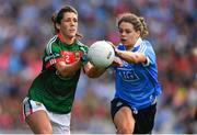 24 September 2017; Orla Conlon of Mayo in action against Noelle Healy of Dublin during the TG4 Ladies Football All-Ireland Senior Championship Final match between Dublin and Mayo at Croke Park in Dublin. Photo by Brendan Moran/Sportsfile