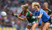 24 September 2017; Sarah Rowe of Mayo in action against Rachel Ruddy of Dublin during the TG4 Ladies Football All-Ireland Senior Championship Final match between Dublin and Mayo at Croke Park in Dublin. Photo by Brendan Moran/Sportsfile
