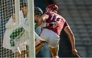 24 September 2017; Damien Young of Drom & Inch is tackled by Niall Kenny of Borris-Ileigh during the Tipperary County Senior Club Hurling Championship semi-final match between Drom & Inch and Borris-Ileigh at Semple Stadium in Thurles, Tipperary. Photo by Piaras Ó Mídheach/Sportsfile