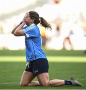 24 September 2017; Noelle Healy of Dublin reacts at the final whistle during the TG4 Ladies Football All-Ireland Senior Championship Final match between Dublin and Mayo at Croke Park in Dublin. Photo by Cody Glenn/Sportsfile