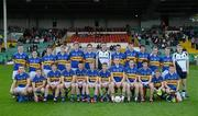 8 July 2012; The Tipperary squad. Back row, from left, Colman Kennedy, TJ Ryan, Jimmy Maher, Lorcan Egan, Philip Quirke, Dylan Fitzelle, Evan Comerford, Tom Kirwan, Steven O'Brien, Colin O'Riordan, Michael Meagher, Thomas O'Donoghue and Gearóid Slattery, with, front row, from left, John McGrath, John Martin, Jack Shelly, Kevin Fahey, James Feehan, Jason Lonergan, Darren Cass, Ian Fahey, Bill Maher, Greg Henry, Jack Loughnane and Peter Mulhaire. Electric Ireland Munster GAA Football Minor Championship Final, Kerry v Tipperary, Gaelic Grounds, Limerick. Picture credit: Stephen McCarthy / SPORTSFILE