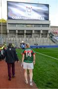 24 September 2017; Cora Staunton walks off the pitch following the TG4 Ladies Football All-Ireland Senior Championship Final match between Dublin and Mayo at Croke Park in Dublin. Photo by Cody Glenn/Sportsfile