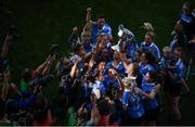 24 September 2017; Dublin goalkeeper Ciara Trant and team-mates celebrate with the cup following the TG4 Ladies Football All-Ireland Senior Championship Final match between Dublin and Mayo at Croke Park in Dublin. Photo by Stephen McCarthy/Sportsfile