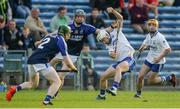 24 September 2017; Michael O'Brien of Thurles Sarsfields, supported by team-mate Conor Lanigan, right, in action against Tom Fox, centre, and Diarmaid Ryan of Éire Óg Annacarty/Donohill during the Tipperary County Senior Club Hurling Championship semi-final match between Thurles Sarsfields and Éire Óg Annacarty/Donohill at Semple Stadium in Thurles, Tipperary. Photo by Piaras Ó Mídheach/Sportsfile