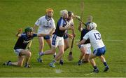 24 September 2017; Eoin Bradshaw of Éire Óg Annacarty/Donohill handpasses under pressure from Mossy McCormack of Thurles Sarsfields, centre, during the Tipperary County Senior Club Hurling Championship semi-final match between Thurles Sarsfields and Éire Óg Annacarty/Donohill at Semple Stadium in Thurles, Tipperary. Photo by Piaras Ó Mídheach/Sportsfile