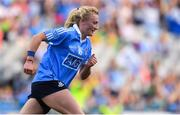 24 September 2017; Carla Rowe of Dublin celebrates after scoring her side's fourth goal during the TG4 Ladies Football All-Ireland Senior Championship Final match between Dublin and Mayo at Croke Park in Dublin. Photo by Brendan Moran/Sportsfile